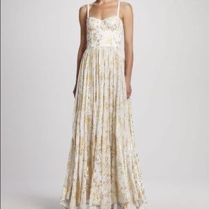 Alice + Olivia Yarra Bustier Maxi Dress/prom Gown